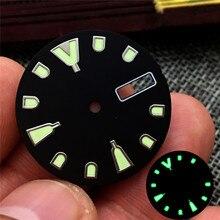 28.5mm saat arama halkası süper C3 için ışık NH36 hareket izleme aksesuarları