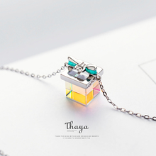 Thaya Color Light Bow Gift Necklace 925 Silver Bohemia Interesting Color Prism Necklace for Women Special Design Jewelry