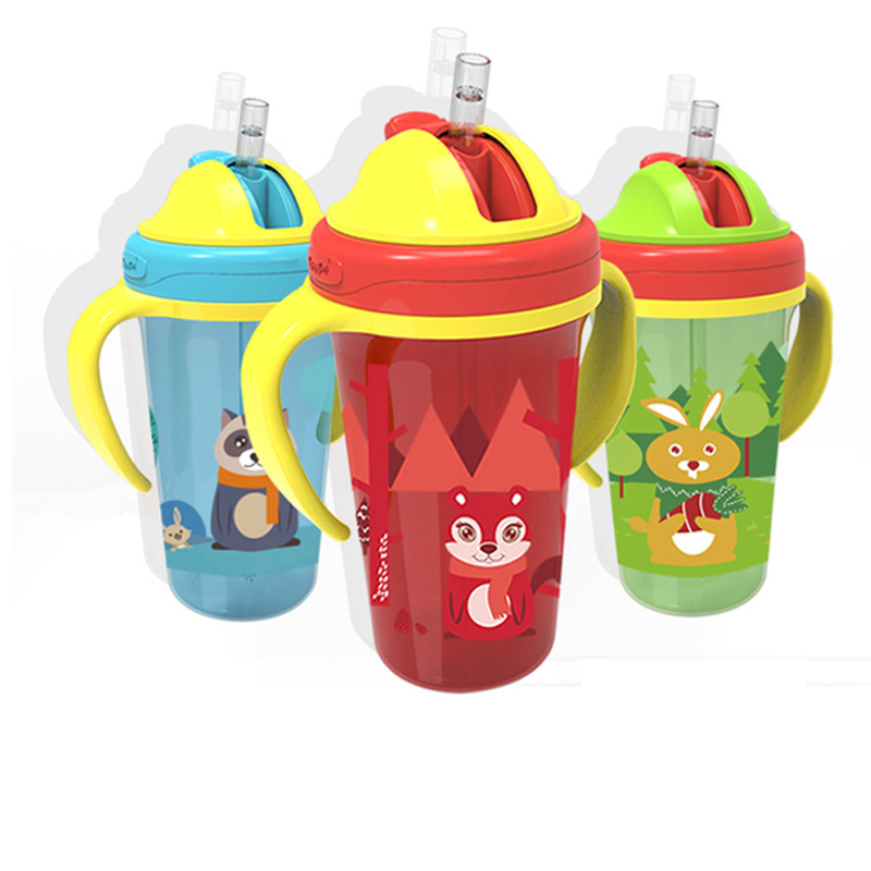 Silica Gel Feeding Baby Cup Kids Newborn Baby Drink Cups Water Bottles Kid Drinking Sippy A Cup With Straw Copo Infantil Drinker