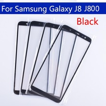 10 piezas para Galaxy J8 2018 J810 J810F J810DS On8 pantalla táctil cristal exterior frontal para J8 2018 J800 lente de pantalla táctil para J8 plus J805