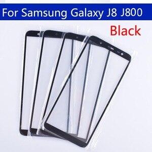 Image 1 - 10Pcs Voor Galaxy J8 2018 J810 J810F J810DS On8 Touch Scherm Front Outer Glas Voor J8 2018 J800 Touchscreen lens Voor J8 Plus J805