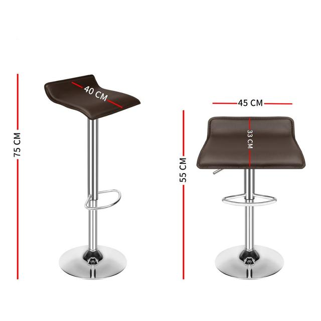 Set of 4 Modern Dining Chairs Soft PU Leather Counter Bar Stools Adjustable Chrome Swivel Stool for Kitchen Pub Salon Office 6