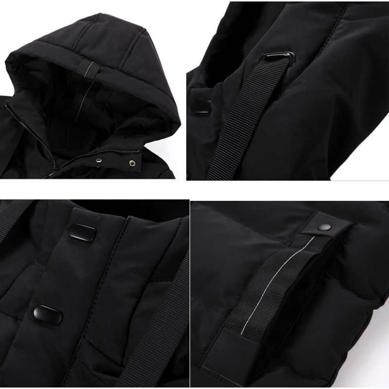 Varsanol nuevo Parkas para hombre abrigo largo de algodón de invierno para hombre chaqueta de bombardero de marca gruesa Parka Homme camisetas cálidas-20 grados