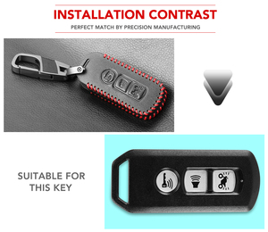 Image 3 - Protective Leather Key Case For Honda X ADV SH 300 150 125 Forza 300 125 PCX150 2018 Motorcycle Scooter 2/3 Button Smart Key