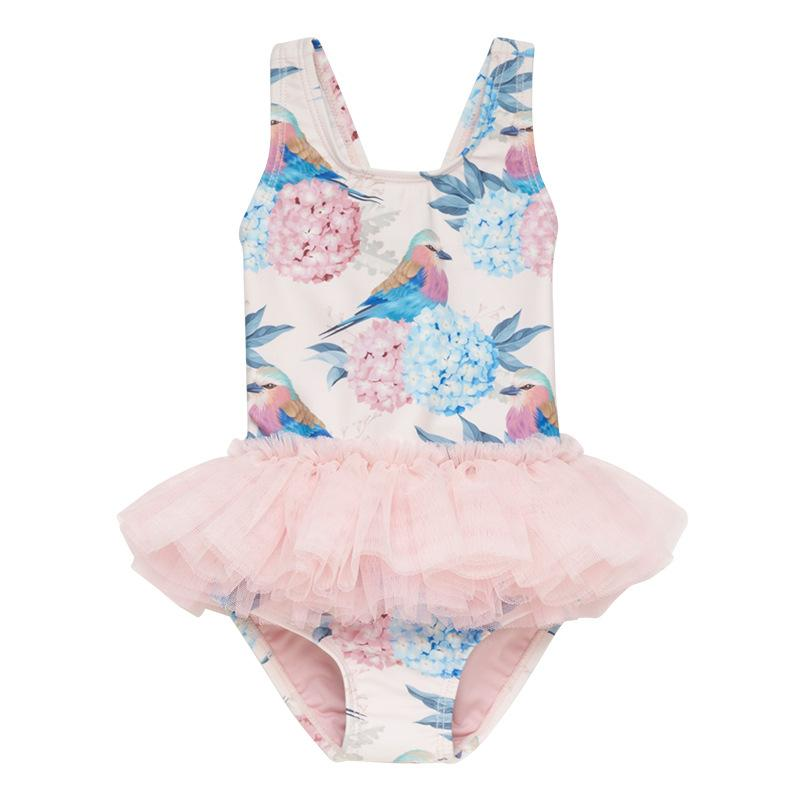 Toddlers Sleeveless Swimsuits Baby Girls Romper Outfit Bathing Suit Tutu Party Dress Skirt Summer Clothes Set