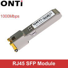 ONTi Gigabit RJ45 SFP מודול 1000Mbps SFP נחושת RJ45 SFP משדר מודול תואם עבור סיסקו/Mikrotik Ethernet מתג