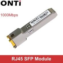 ONTi Gigabit RJ45 SFP Modulo 1000Mbps SFP In Rame RJ45 Modulo Transceiver SFP Compatibile per Cisco/Mikrotik Switch Ethernet