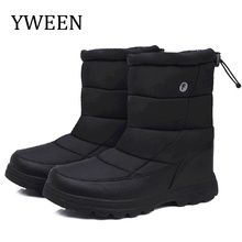 YWEEN Boots Men Shoes Waterproof Upper Winter Warm Plush 2019 New Design Style Free Ship Outdoor Snow