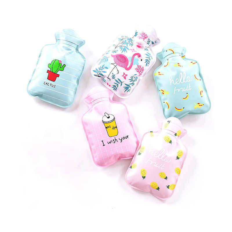 2019 New Winter Cute Cartoon Hot Water Bottle PVC Water Bag For Heat Therapy Hand Warmer Students Mini Pocket Hot Water Bag