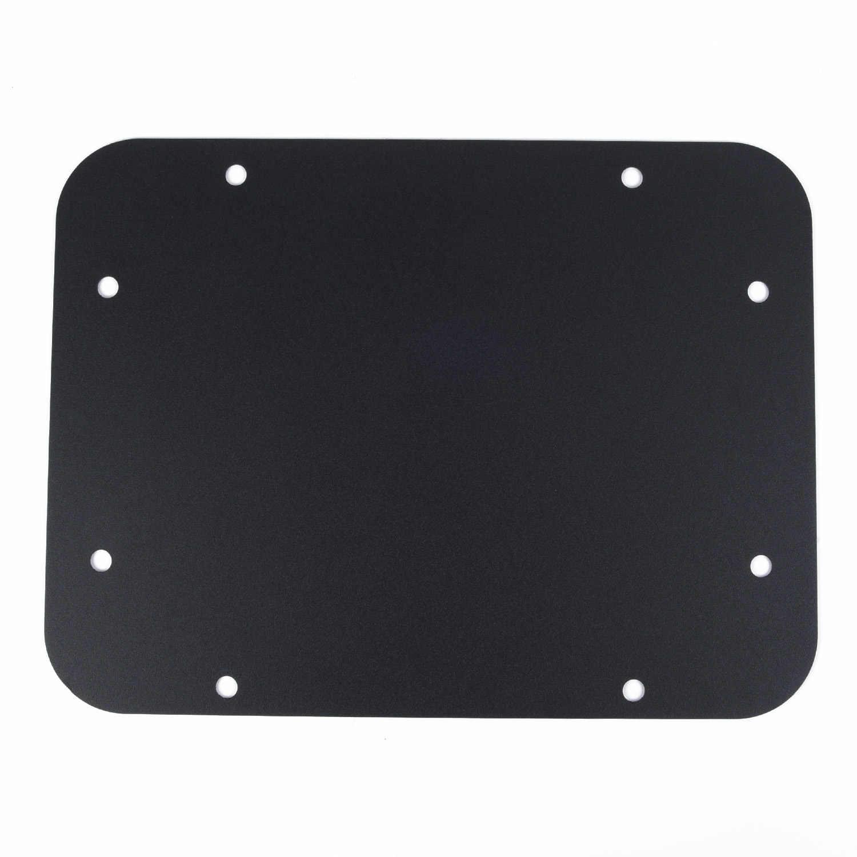 Placa de relleno de repuesto de puerta trasera de coche Placa de relleno de acero negro para Jeep Wrangler JK/JKU 2007-2018 portón trasero Placa de cubierta