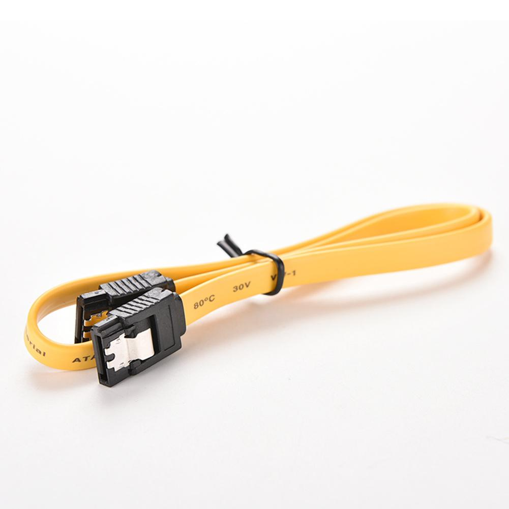 40CM Lingable SATA 2.0 II 7pin Data Cables <font><b>3Gb</b></font>/s SSD line Hard Speed <font><b>HDD</b></font> Drive Disk Yellow Cable High Cord E1C1 image