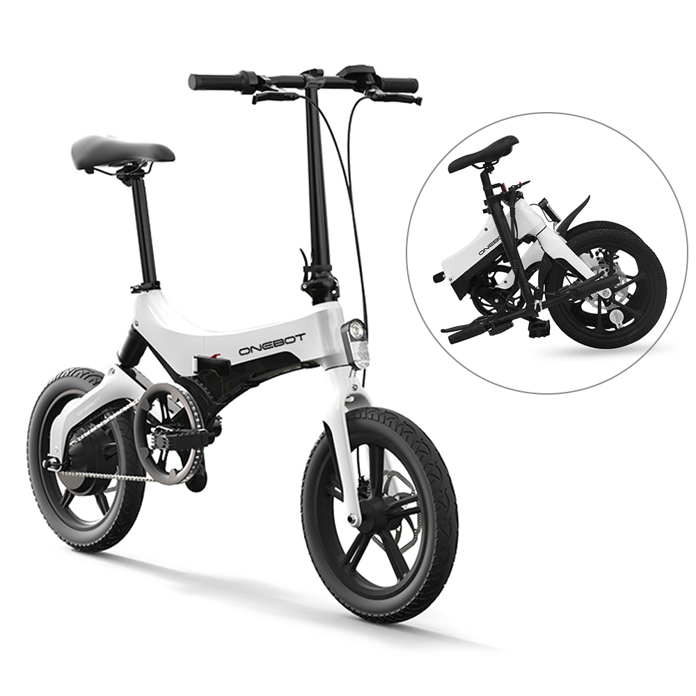 Onebot 16 Inch Folding Electric Bicycle Power Assist Moped Electric Bike <font><b>E</b></font>-Bike 250W Electric <font><b>Motorcycle</b></font> with Dual Disc Brakes image