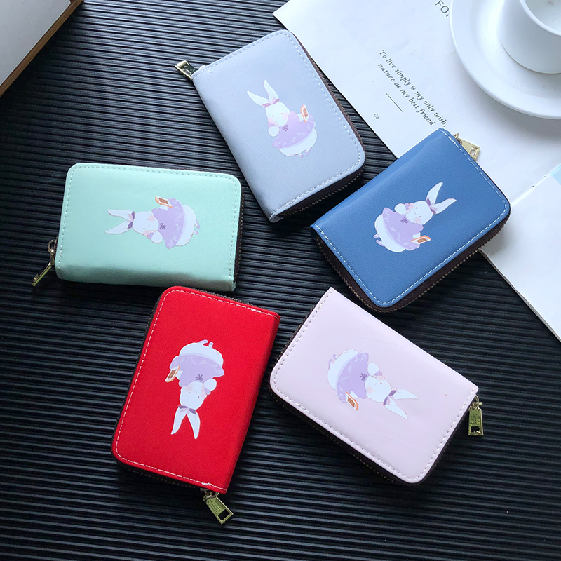 APP BLOG Fashion Apron Rabbit Card Holder Woman's Cards Case Wallet Bag Extendable Driver License Bags Small Coin Purse 2019 New image