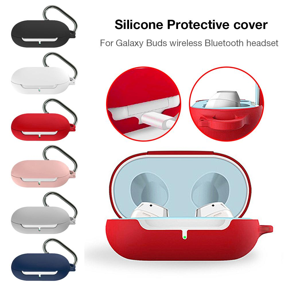 New Protable Bluetooth Headphone Protective Case Cover Sports Earphone Silicone Case For Galaxy Buds Box Support Wholesale