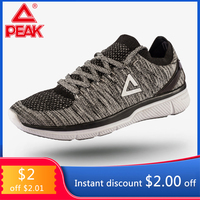 PEAK Women Running Shoes Woven Sock Sneakers Shoes for Women Culture Textile Light Sports Shoes