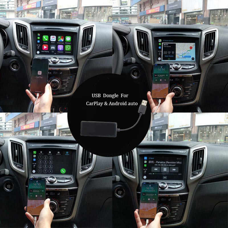 プラグ Android 電話 apple 車再生 Carplay ドングル USB 接続 android の自動デジタルチューナー Android ナビゲーション