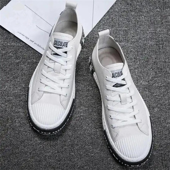 Men White Shoes Tenis Loafers Breathable Walking Shoes For Man Male Students Flat Board Designer Casual Shoes Fashion Sneakers new shoes light double wheel breathable glowing walking shoes led roller skates 3 colors unisex students walking sneakers