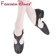 جلد طبيعي تمتد الباليه حذاء للرقص للنساء الجاز الرقص حذاء المعلمين الرقص الصنادل الفتيات بوانت الحذاء