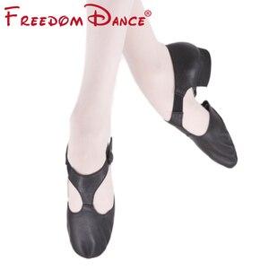 Image 1 - Genuine Leather Stretch Ballet Dance Shoe For Women Jazz Dancing Shoe Teacherss Dance Sandals Girls Pointe Shoe