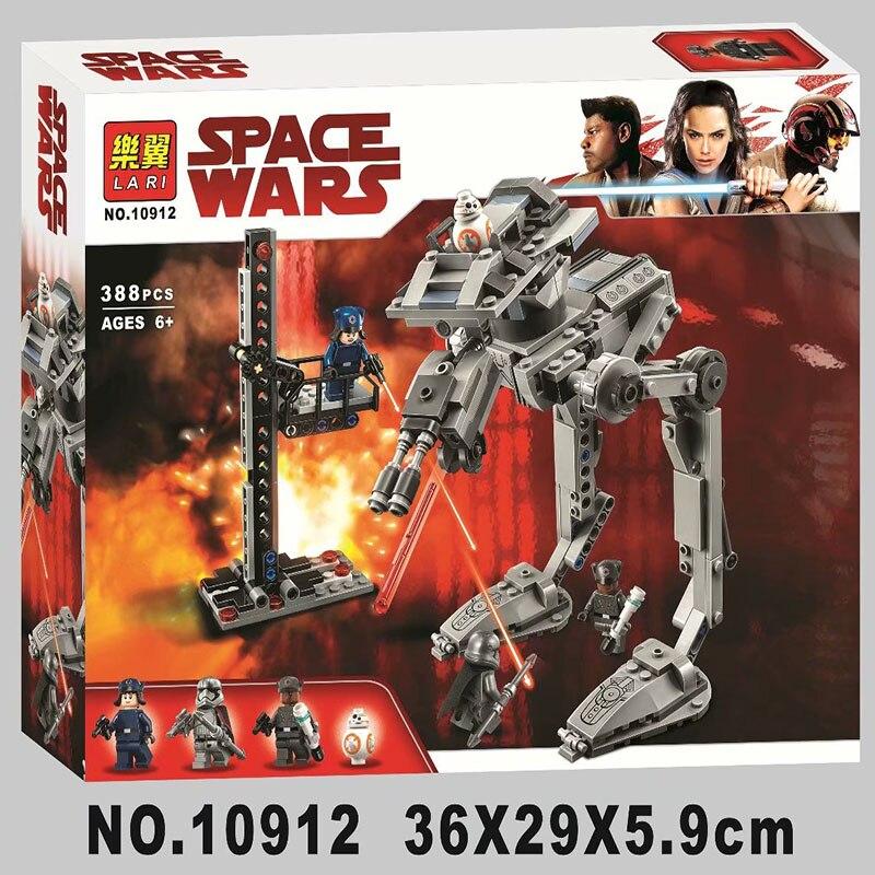 Bela 10912 388Pcs Star Wars series First Order AT-ST Building Blocks Bricks Kids Friends Toys Christmas gift 75201