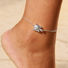 New Vintage Shell Simple Rope Chain Sea Turtle Anklet for Women Anklet Bracelet on The Leg Handmade Jewelry Summer Charm Sandals vintage engraved floral anklet for women