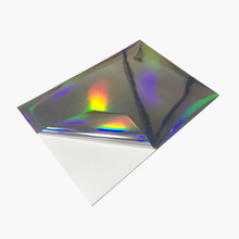 A3 blank HOLOGRAM SILVER sticker 50 micron thickness label paper for LASER printer