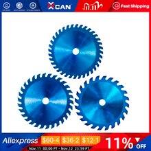 XCAN 1pc 85x10/15mm 24/30/36 Teeth TCT Wood Circular Saw Blade Nano Blue Coating Cutting Disc Carbide Tipped Saw Blade