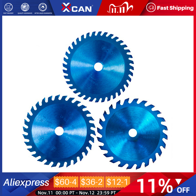 Xcan 1Pc 85x1 0/15Mm 24/30/36 Tanden Tct Hout Cirkelzaagblad Nano Blauwe Coating snijden Disc Hardmetalen Zaagblad