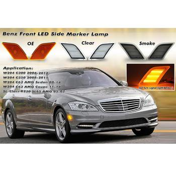 Front LED Side Marker Light Signal Lamp Amber For  Mercedes C-Class W204 US 08-11