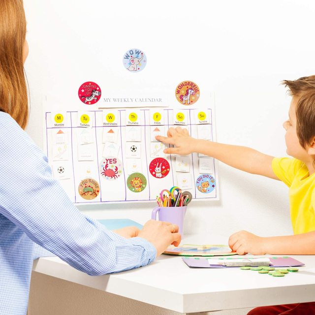 500Pcs Animale Ricompensa Adesivi 1 Inch Aula Motivazionale di Incentivazione Adesivi per Incoraggiamento Insegnanti Studenti Giocattoli Adesivi