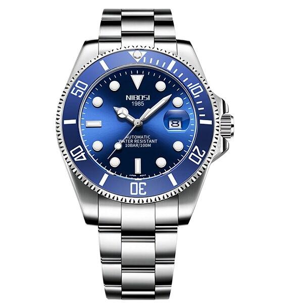 NIBOSI Mechanical Watch Men 10Bar Automatic Luxury Men Watch Sport Wristwatch Two-Tone Reloj Hombre Tourbillon Relogio Masculino 8
