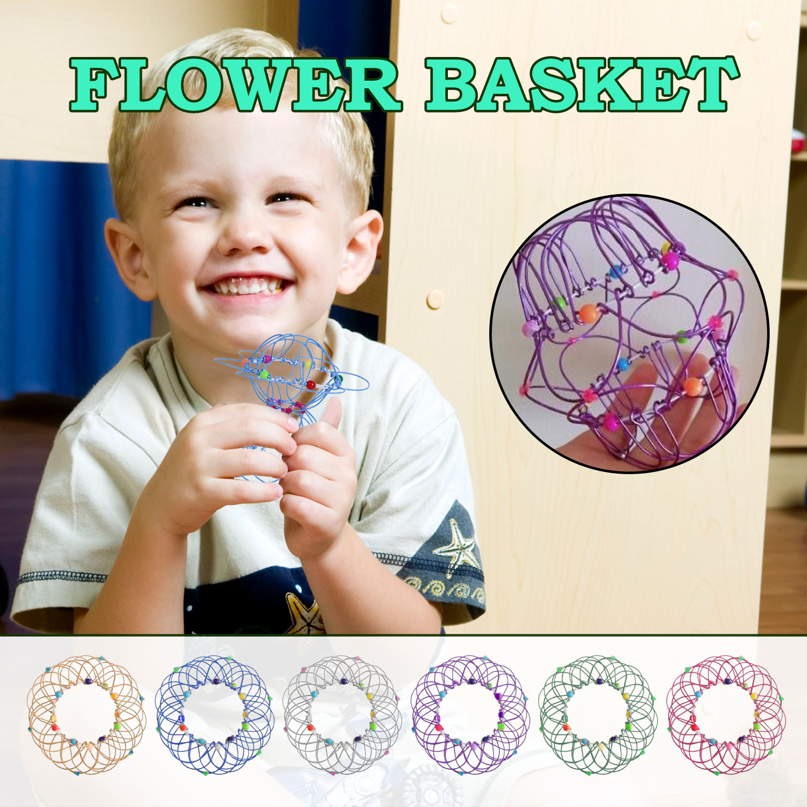 Decompression Flexible Basket Soft Steel Magic Iron Ring Ornament Gift For Child Children's Educational Toys Juguete 2021