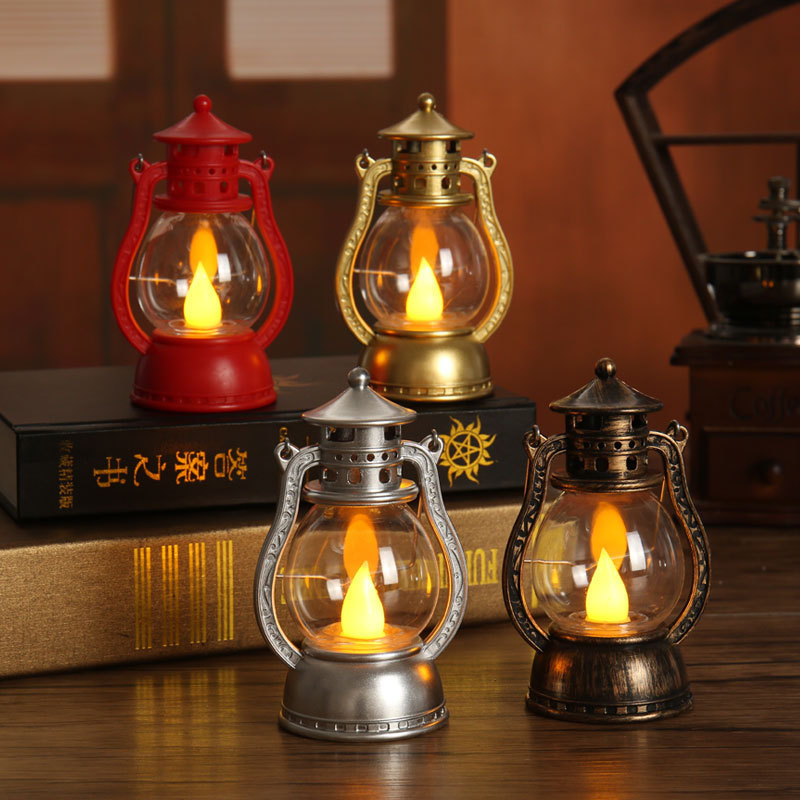 Vintage Oil Lamp Outdoor Lamp Christmas Ramadan Halloween Garden Wedding Party Decoration Atmosphere Decoration Lamp