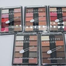 10 cores nude glitter sombra de olho fosco maquiagem glitter pigmentos smoky sombra de olho paleta à prova dwaterproof água pó 9 cores maquiagem