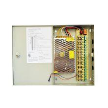 18 منفذ قناة توزيع امدادات الطاقة سويثينغ امدادات الطاقة الناتج 12 فولت 10A 15A 20A 30A لنظام الأمن CCTV والكاميرات