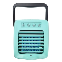 Usb Mini Portable Air Conditioner Arctic Cooler Humidifier Purifier Led Light Personal Space Fan Cooling Blue