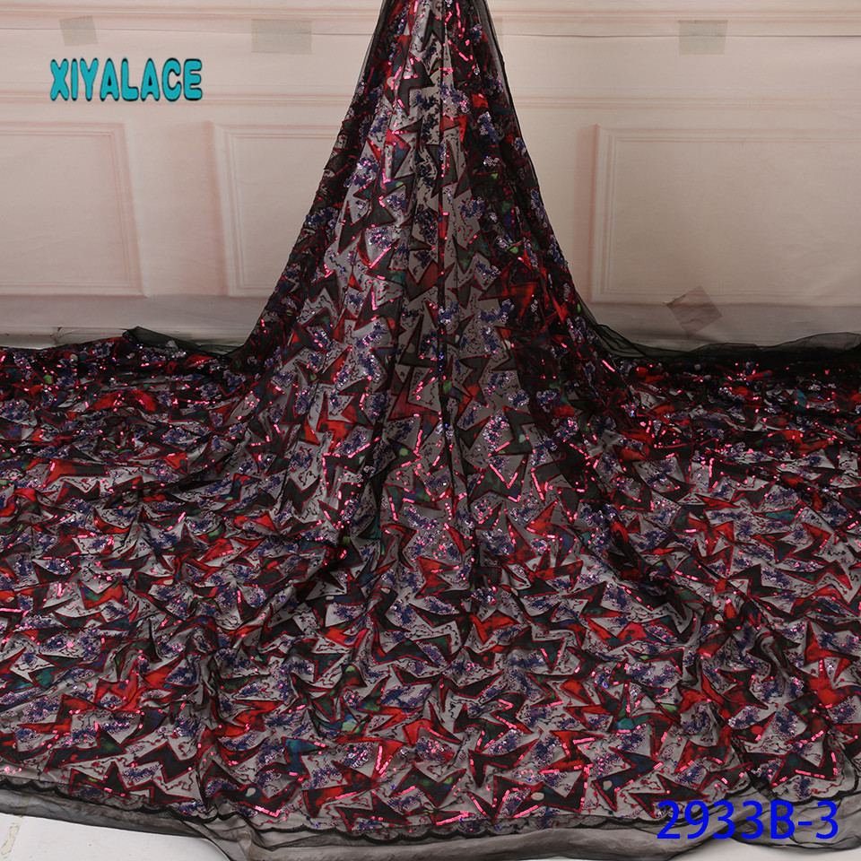 African Lace Fabric French Lace Fabric 2019 High Quality Lace Embroidery Fabric Nigerian Voile Suisse Lace Fabrics YA2933B3