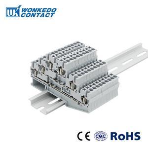Image 2 - DIN Rail 10Pcs ST 2.5 3L ฤดูใบไม้ผลิ 3 ชั้นระดับตัวเชื่อมต่อสุทธิดึงประเภทสกรู ST2.5 3L