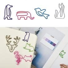 Animal Customization Bookmark Paper-Clips Memo Cute 20pcs/Lot Special-Shaped Creative