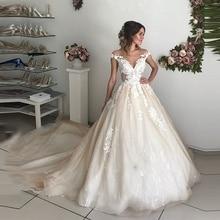 SHJ112 Luxo Vestido De Noiva 2019 Elegante Vestido De Noiva Vintage Vestidos de Casamento Custom Made Robe De Mariee