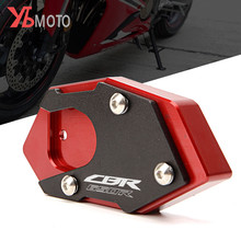 CNC Aluminum Motorcycle Side Stand Pad Enlargement Plate Kickstand Extension for HONDA CBR650R CBR650 R CB650R CB650 R 2019 2020
