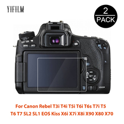 2Pcs For Canon Rebel T3i T4i T5i T6i T6s T7i T5 T6 T7 SL2 SL1 EOS Kiss X6i X7i X8i X90 X80 X70 Screen Protector Tempered Glass