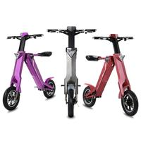 Electric Folding Bicycle Two Wheels Electric Bicycles 12 Inch 240W 48V Ladies Electric Bike With Bluetooth Speaker