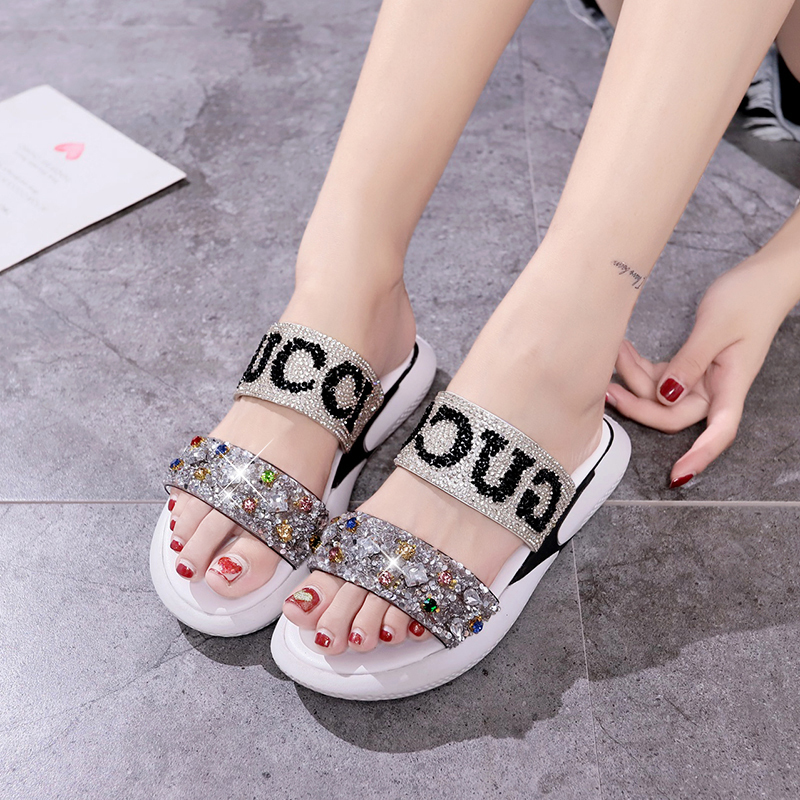 Summer Sandals Women Platform Sandalias Ladies Crystal Wedage Shoes For Women Bling Gladiator Flat Shoes Sandalias Mujer 2020
