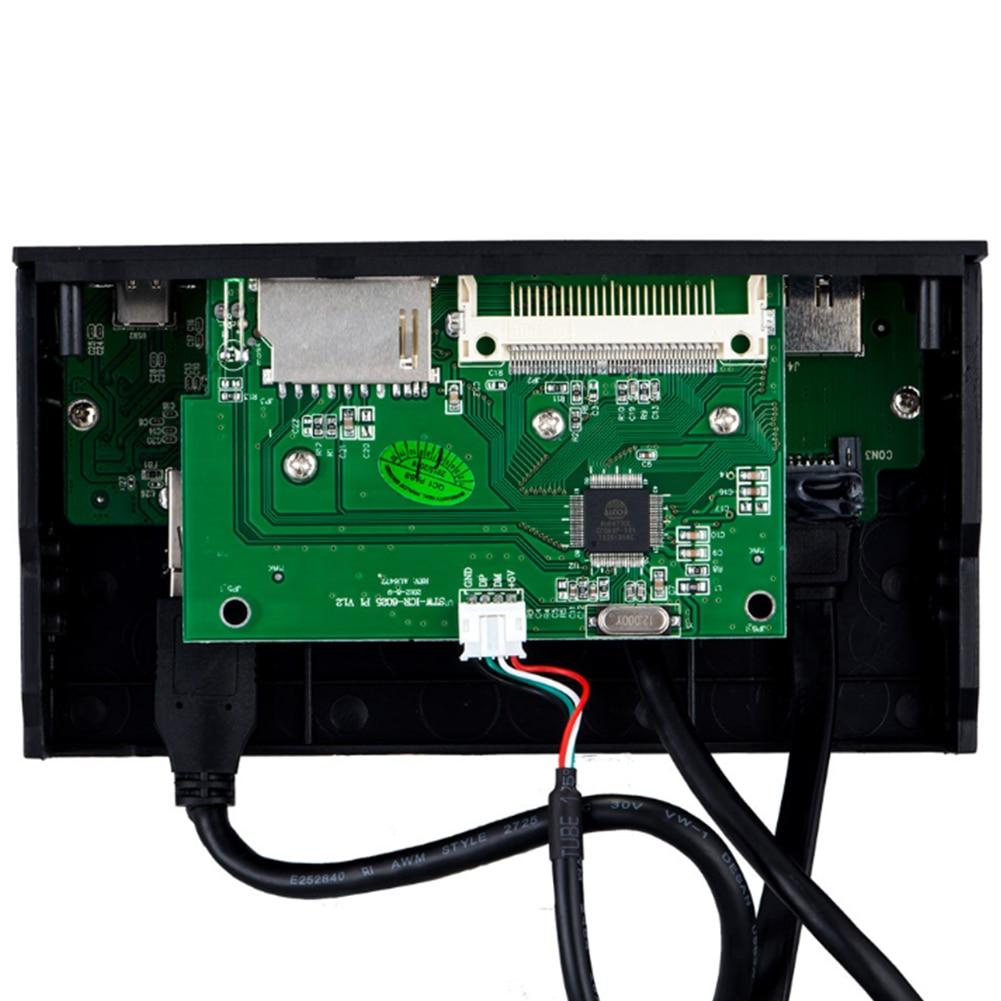 USB 3.0 Front Panel Multi-Port PC Front Panel Internal USB 3.0 eSATA Type-C MD TF SD Card Reader Hub USB Front Panel картридер 2