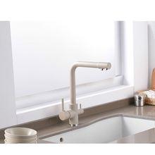 Кран для кухни с фильтрованной водой латунь поворот на 360 градусов
