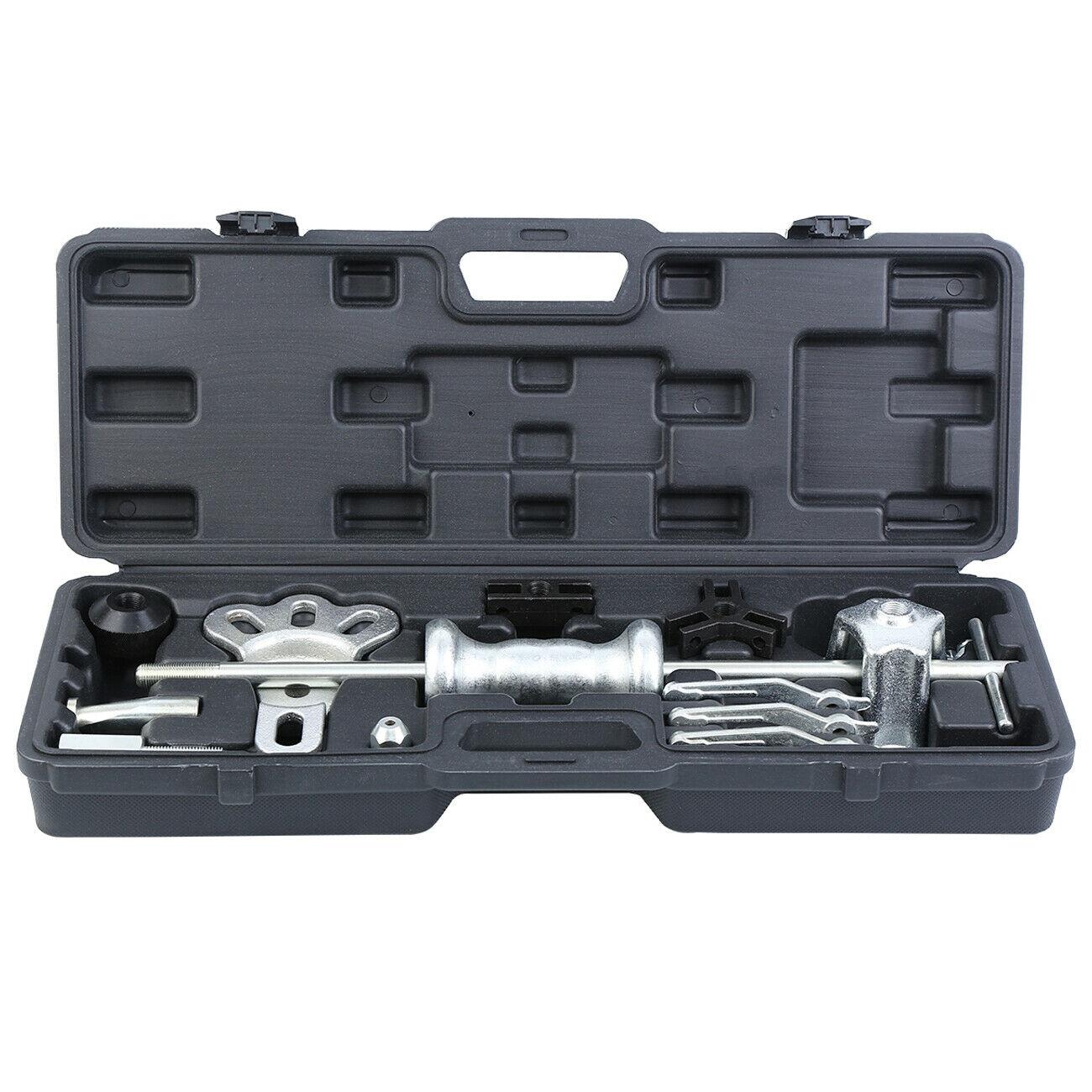 Samger 18pcs Slide Hammer Puller Bearing Remover Set Front Wheel Hub Bearing Remover & Rear Wheel Axle Shaft Puller Tool Kit