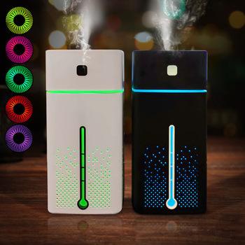 Nawilżacze powietrza Atomizer aromaterapia ultradźwiękowa dyfuzory o dużej pojemności cichy LED Light Night USB nawilżacz do domowego biura tanie i dobre opinie Anzelun 1000ML DC5V 36db Mgła absolutorium Typ pureness Household Handlowych kwadratowych 31-40 ㎡ Touch-tone Nawilżania