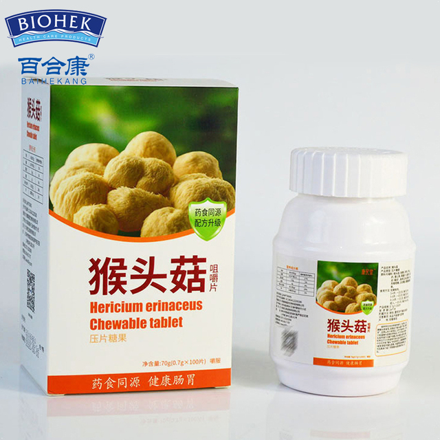 Natural Hericium Mushroom Gain Weight Tablet to Increase Body Weight Supplements