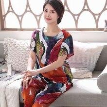 Womens Pyjamas Sleepwear Sets New Print Cotton Home Clothes Casual Homewear Plus Size 3Xl